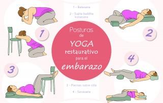 posturas de yoga durante el embarazo